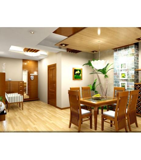 Phòng ăn trong căn hộ Him Lam Riverside